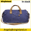 6008 Popular Design Vintage Navy Blue Large Cotton Canvas Travel Sport Duffel Bag For Men Gender