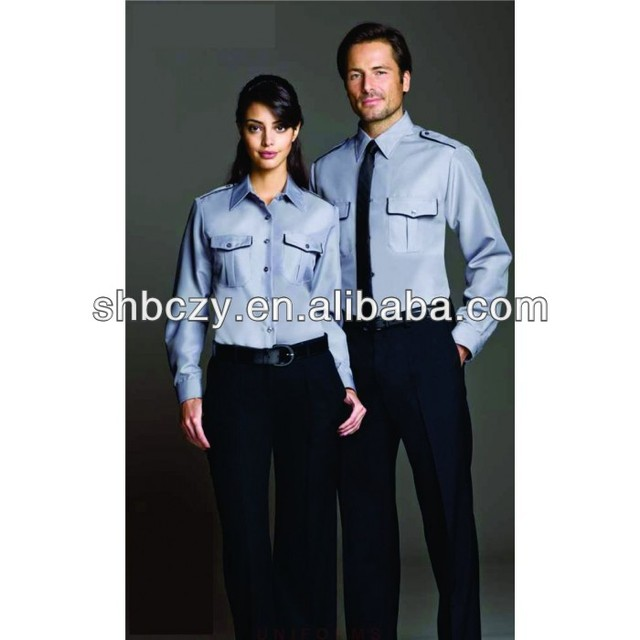 Customized promotional clothing blue security uniforms