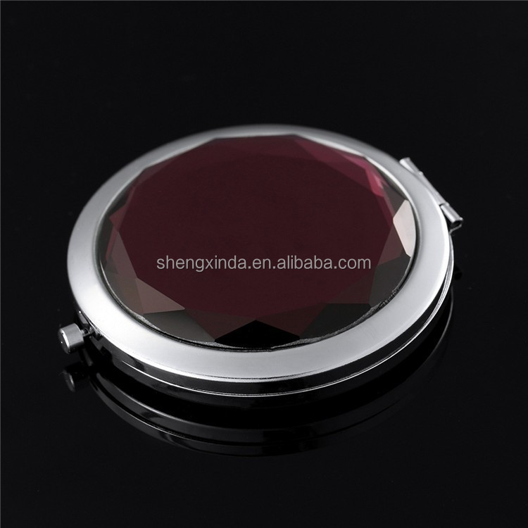 Best Selling High Quality Wedding Favor Decorative Acrylic Metal Round Mirror Pocket Makeup Mirror