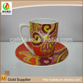 Beautiful modern style wholesale OEM service ceramic porcelain tea cup and saucer