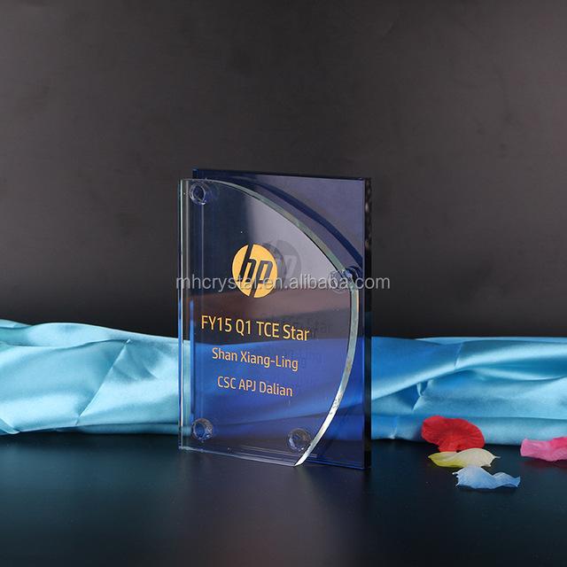 Blue Crystal Plaque Award trophy MH-J0926