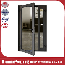 Double Glass Horizontal Pattern Outswing Aluminum Window And Door