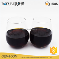 Promotional Mouth Blown Transparent Glass Cups