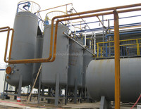 International joint venture 50tons daily capacity Continuous used engine oil lube base oil recycling plant equipment