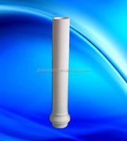 low wetting riser tube for aluminum foundries