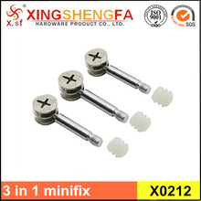 Hot sale minifix fitting with plastic dowel for 18mm MDF board