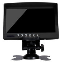 Factory wholesale OEM design 7 inch mini tv car lcd monitor with AV input