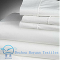 hot sale textile polyester cotton poplin fabric combed mercerised bleached white for school shirt