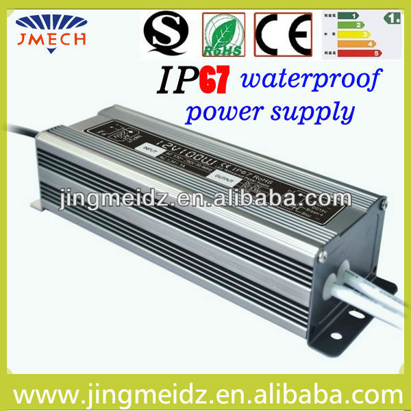 CE&ROHS 100W waterproof IP67 ac/dc 24v power supply