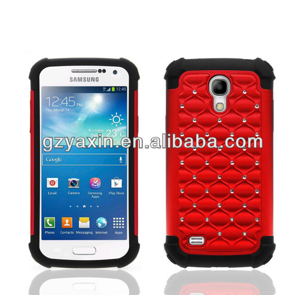 Two layers for samsung galaxy s4 mini i9109 case,rubber phone covers