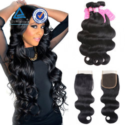 Brazilian Body wave hair , Peruvian hair grade 7A virgin 100% human hair