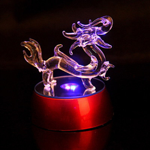 Chinese antique glass dragons with led light