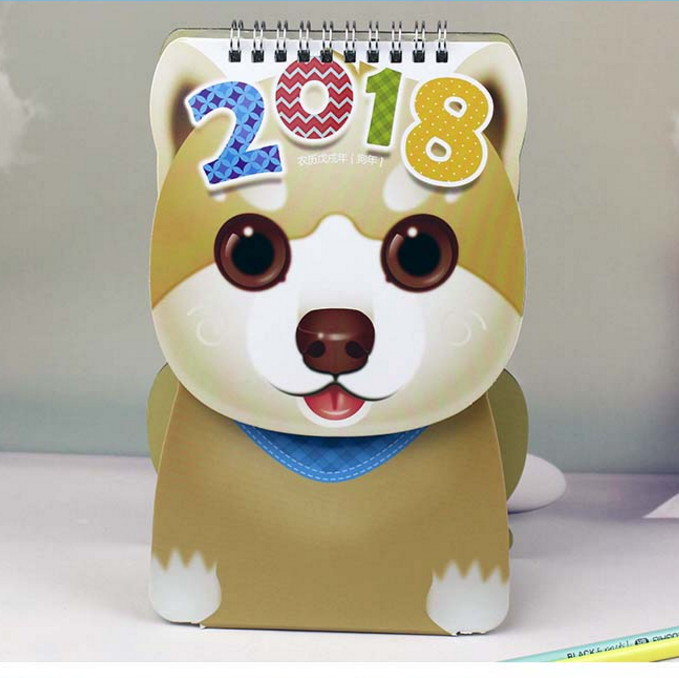 Wholesale 2018 interesting dog dtyle table calendar