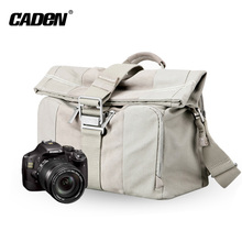 Fashionable Promotion Canvas Leather trim Dslr Camera Shoulder bag