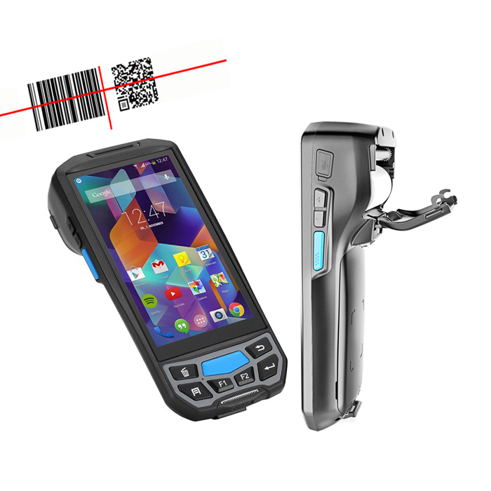 Lecom wireless Android bluetooth mobile Handheld barcode <strong>scanner</strong> with printer android pda 2D bars code reader for courier
