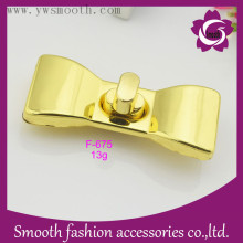 Fashion Bowknot Shape Bag Turn Lock Handbag Accessories Hardware Gold