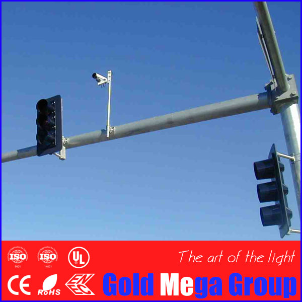5-8m height sIngle arm Pole Mounting Loop Bracket Steel for CCTV Surveillance PTZ Dome CCD Camera, cctv camera bracket