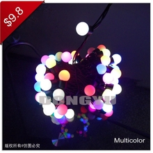 100 LED string light factory wholesale ball string outdoor led light
