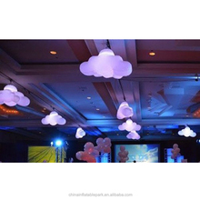 colorful lighting inflatable decoration cloud for stage and party