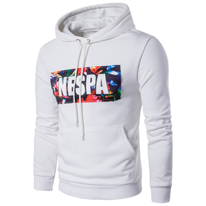 Oem service plus size pull over hoodies men custom 3d printing 100% cotton blank white hoodie