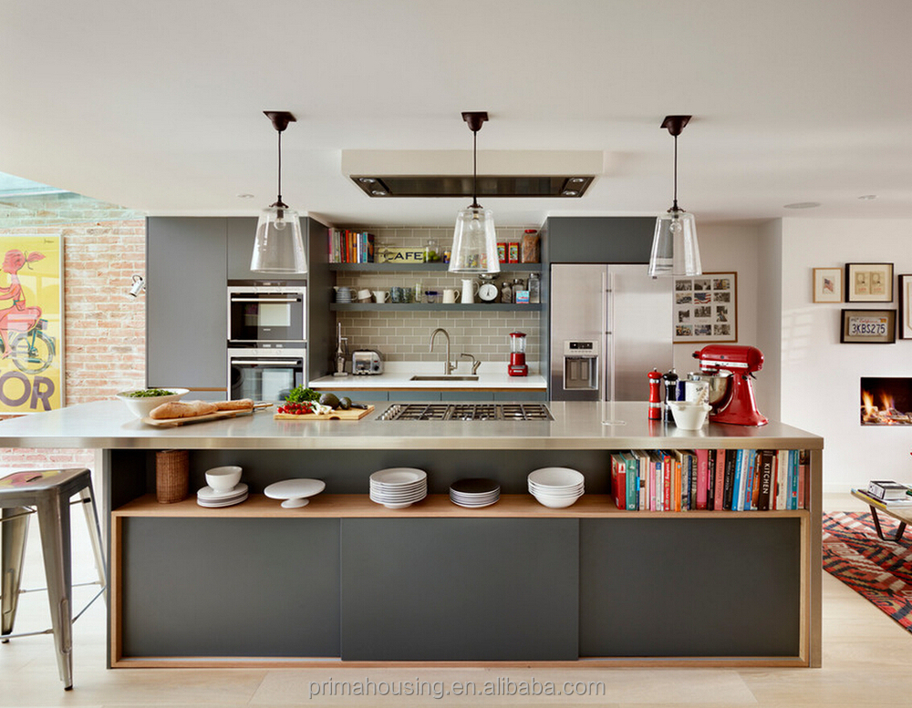 Latest Matt Lacquer Kitchen Cabinet Free Design With Blum ...