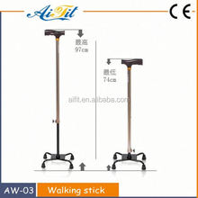 2014 Wholesale new arrival old man walking cane with 4 legs stable walking stick