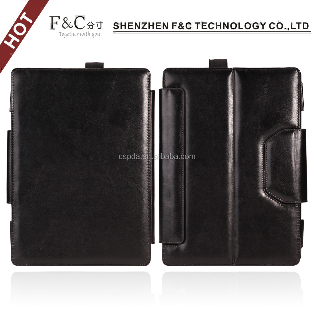 PU leather design for microsoft surface pro 4 case,stand case for microsoft surface pro 4