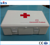 Arab region portable plastic box with car auto brand LOGO car first aid kit