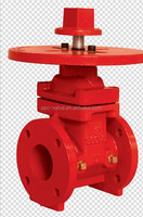 300PSI FM UL non-rising flanged gate valve with round plate
