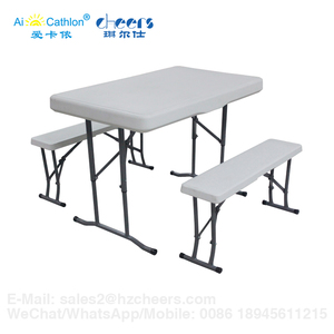 Outdoor Furniture Folding Beer Garden Table and Bench Set