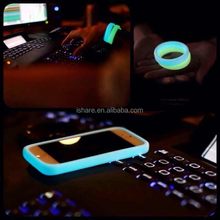 Creative Gift Multi-function Silicone Bracelet Bumper Case For Iphone5 5s case glittering in dark