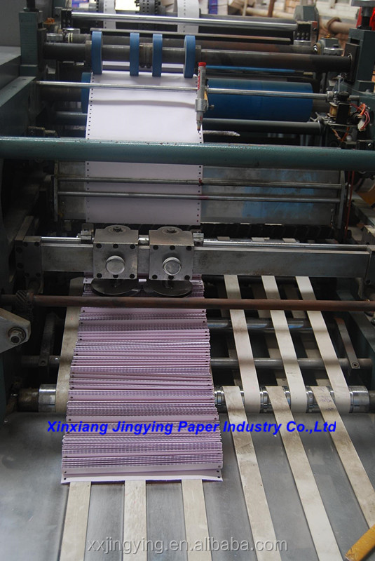 pre-printed continuous form paper 3ply blue image