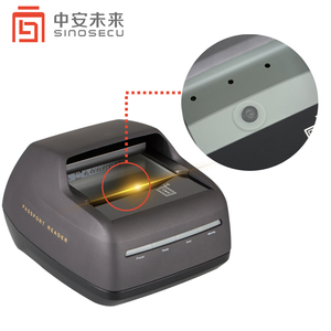 Full page single-step UV light automatic passport scanner