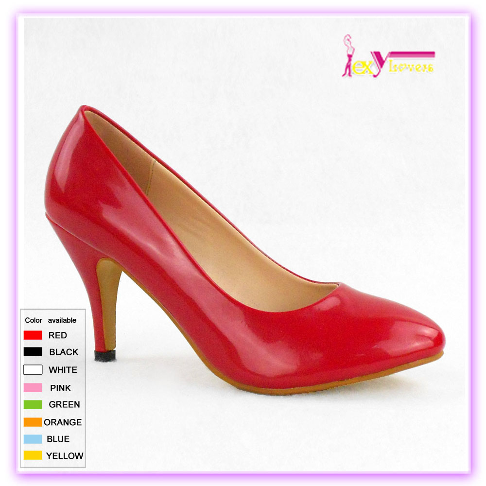2017 new women's casual pointed-toe red ladies fancy low heel shoes