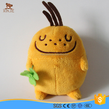 cute plush small yellow potato mascot toy