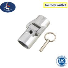marine stainless steel boat rail fitting folding swivel tube pipe connector