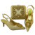Good quality Italian shoes and bags with stones low heel shoes and bags for wedding