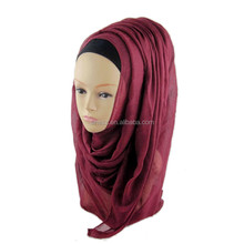 nice voile viscose long shawls plain women scarves muslim hijabs