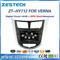 ZESTECH Factory oem 7 inch hd touch screen car sat nav gps for Hyundai Verna Accent Solaris bluthtooth