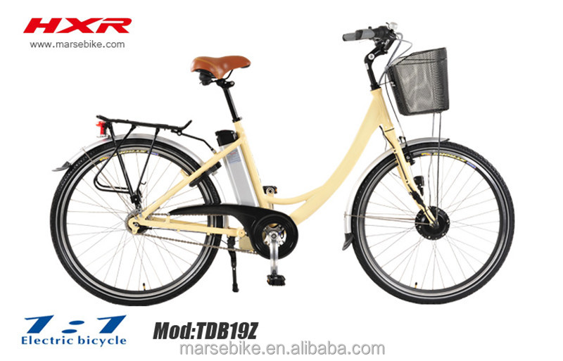 City Electric Bike with step through frame for lady