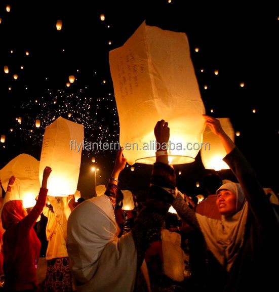 ECO friendly wholesale flame resistant flying chinese handmade hot sell Biodegradable Chinese Sky Lantern
