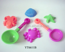 Mini Sand Beach Toy Set Several Beach Tool and Shapes Plastic