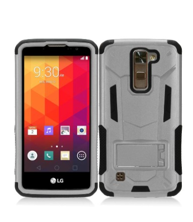 For LG K8 Hybrid Dual Layer Protective Hard Cover Case,w/Stand An-ti shock Case