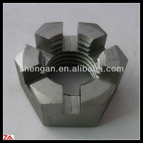 din979 hex slotted thin nut