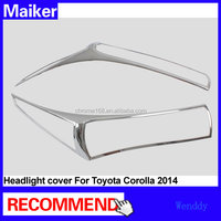 ABS headlight cover front light cover For Toyota Corolla 2014 car outer chrome accessories