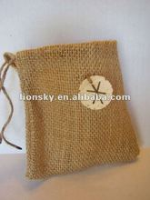 Jute hessian pouch packing sweets in Halloween or Christmas