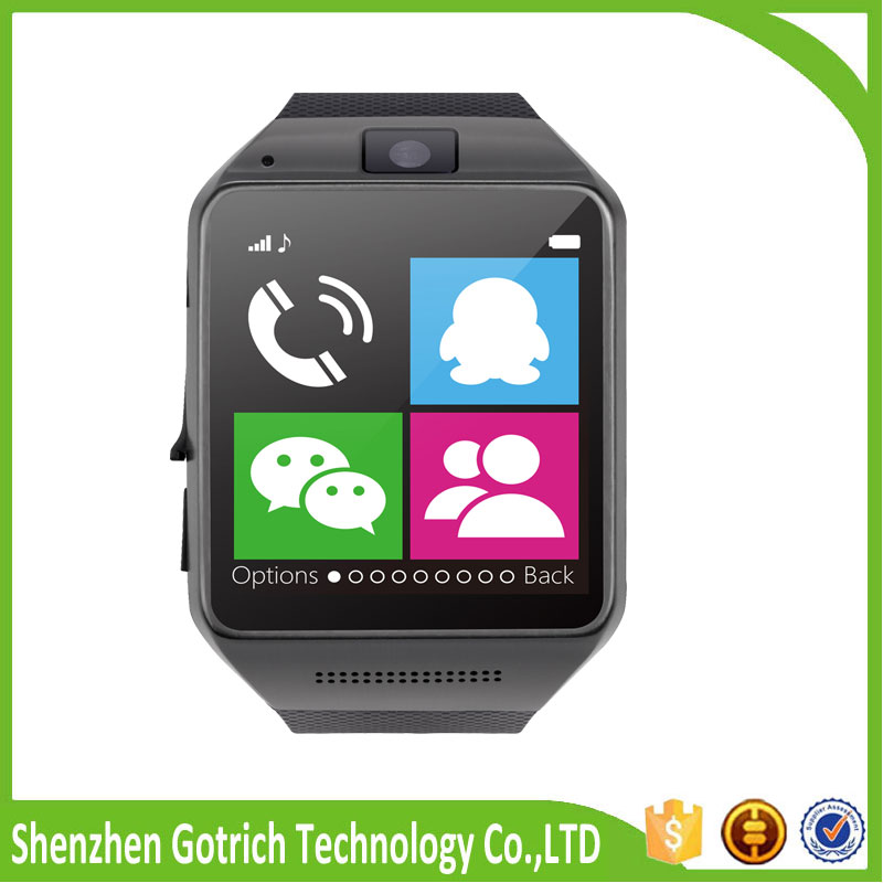 Hot selling bluetooth smart wrist band waterproof wrist watch mobile phone GV08 android smart watch