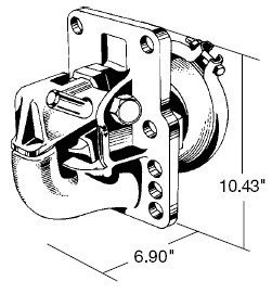 Rigid type pintle hook with air operated plunger buy for Metal craft trailers parts