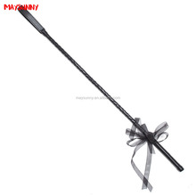 Leather Whip With Black Handle Lash Strap Sex Toys Couple Game Flog Toy Touch Soft Stronger