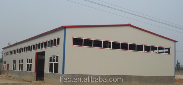Prefabricated wall panels steel structure workshop
